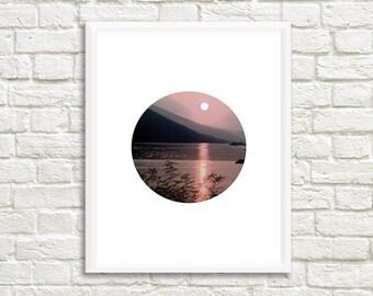 Nature and Sunset Print