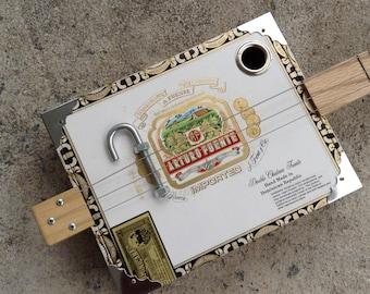 Po' Boy Guitars Arturo Fuente 3 String Acoustic/Electric Cigar Box Guitar...Excellent Value