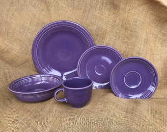 Limited Edition Rare Lilac Fiesta Place Setting