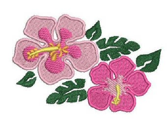 NeedleUp - Hibiscus embroidery design