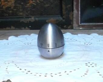 stainless steel timer/metalware/kitchenware/Scandinavian style/Vintage, retro/British