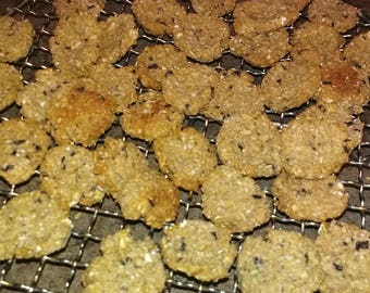 Oatmeal, peanut butter and blueberry dog cookies