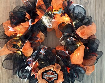 Harley Davidson LED Wreath