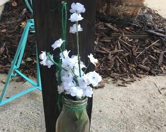 Vintage vase with flowers