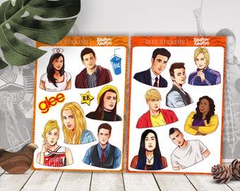Glee stickers, Glee, laptop stickers, fandom stickers, TV series, tumblr stickers, Vinyl Stickers, Cool Stickers, Sticker Pack