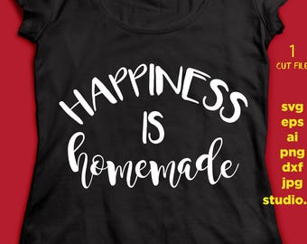 Happiness is homemade, png, dxf, eps cutting file, STUDIO.3, silhouette cameo, cuttable, clipart, dxf, cricut file