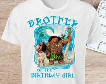 Moana - Brother of The Birthday Girl - INSTANT DOWNLOAD
