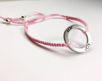 Macrame adjustable bracelet