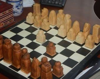 custom wooden chess set