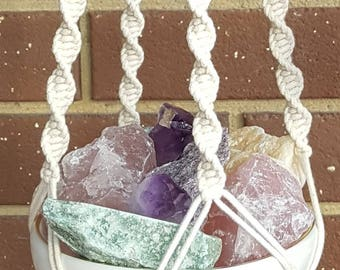 Crystal Blessings Macrame Hanging Keepsake/Decor Unique Gift