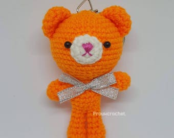 Crochet orange Teddy bear