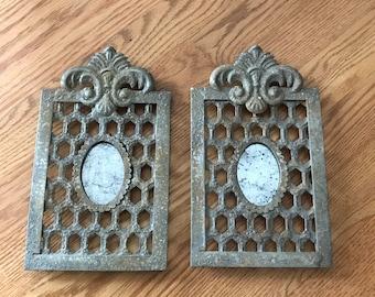 2 metal Fleur-de-lis Frames
