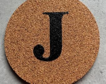 Cork Coaster Letter