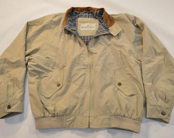 Vintage Baracuta G9 Harrington Men's Bomber Beige Size M MEDIUM Jacket