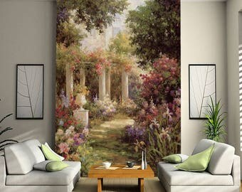 3D Flowers S28 Garden View Wallpaper Mural Wall Print Decal Wall Deco  Indoor Wall Murals Wall Part 82
