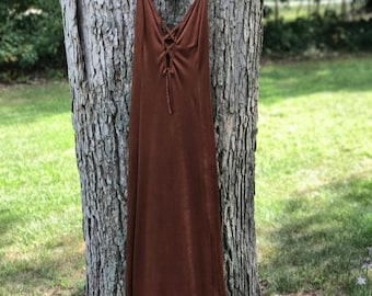 vintage bronze dress or night gown