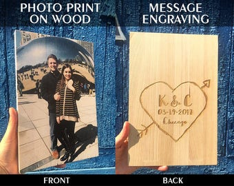 Photo collage, 1st Anniversary Gift, Photo On Wood, 1st Birthday Gift, 1st Anniversary Gift For Husband, 1st Anniversary Gift For Couple