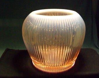 Large Fenton Pink Opalescent Vase