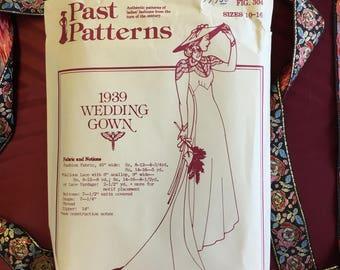 Vintage Late 1930s Wedding Gown Pattern (Uncut)
