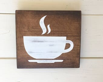 Coffee Sign - Coffee Bar - But First Coffee - Farmhouse Decor - Rustic Wall Decor - Kitchen Decor - Shabby Chic - New Home Housewarming Gift