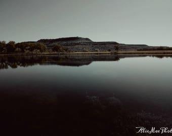 8x10 lake photo print