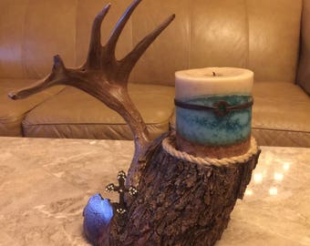 Mesquite Limb Candle Holder