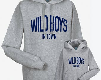 Partnerlook Hoody father child wild boys