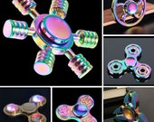 Rainbow Fidget Finger Spinner Hand Spin Titanium EDC Bearing Focus Stress Toy UK