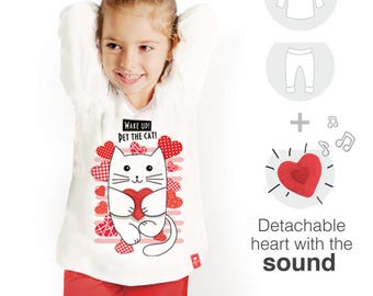 Sleepers with purr kitty / Pajamas from LippiJ / Gifts with love from LippiJ