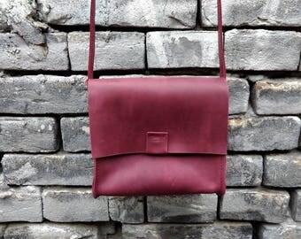 """Leather ladies' bag """"CityBox"""""""