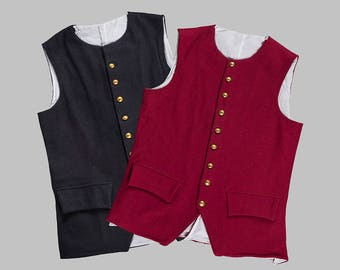 Revolutionary War Wool Waistcoat w/ Working Pockets