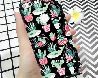 Succulent case, pixel xl case, pixel cactus case, whale pixel xl case, cactus pixel xl case, whale pixel case, pixel case with succulent