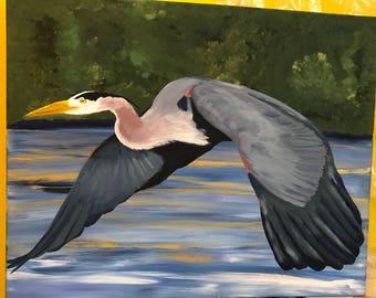 16 x 20 Great Blue Heron