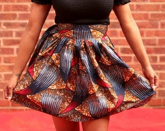 Kiki ankara  mini skirt/ African clothing