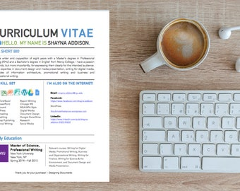 Curriculum Vitae for Writers and Editors