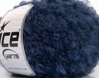 Boucle Mohair Worsted Purple - Ice Yarn - Crochet Yarn - Knitting Yarn - Winter Yarn - Boucle - Mohair - Purple - Mohair Worsted - Wool