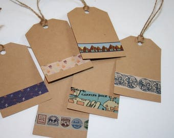 Gift Tags, All Occasion Gift Tags, Travel Inspired Gift Tags, Set of 6 Gift Tags, Luggage Gift Tags