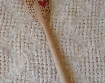 Forever Yours : decorative woodburned spoon