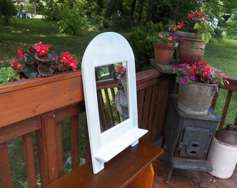 Antique Style Mirror with Shelf