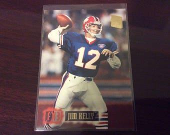 "Jim Kelly Buffalo Bills ""4 NFL Superbowls"" Topps 1995"