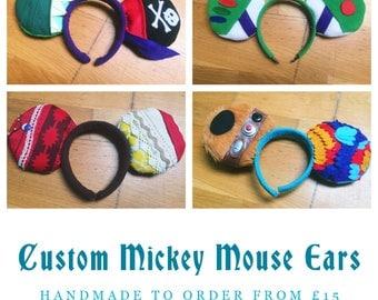 Custom Mickey Ears, Handmade To Order UK