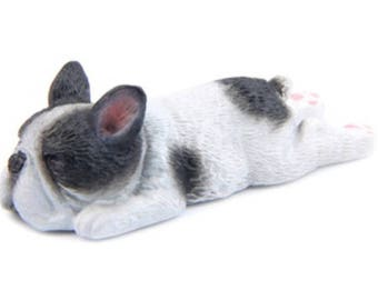 French / French Bulldog magnet - black and white splooting