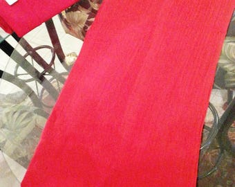 Red Scarf/Long-Length (Wrap/Shawl)
