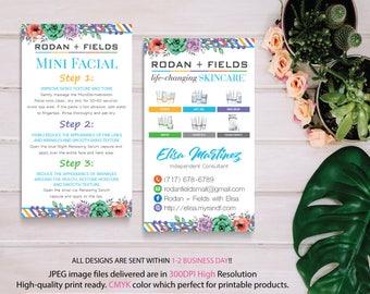 Rodan and Fields Mini Facial Card, Rodan and Fields Business Card, Intensive Renewing Serum, PERSONALIZED Rodan Fields, Digital files RF08