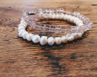 Pearl and Glass Bracelet