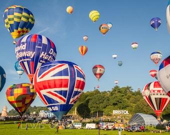 Bristol Balloon Fiesta, Bristol print, photographic print, home wall print, landscape photo print