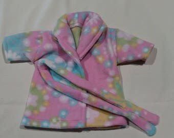"American made Girl Doll Clothes, Pink Fun Fleece Jacket W/ Belt Tie, Fits all 18"" dolls"