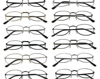 Mr.Reading Glasses 12 Metal Frame Assorted Colors and Styles Men Women Vintage Reader Wholesale+3.50