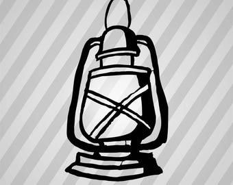 Lamp Silhouette - Svg Dxf Eps Silhouette Rld RDWorks Pdf Png AI Files Digital Cut Vector File Svg File Cricut Laser Cut