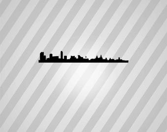 liverpool skyline Silhouette - Svg Dxf Eps Silhouette Rld RDWorks Pdf Png AI Files Digital Cut Vector File Svg File Cricut Laser Cut